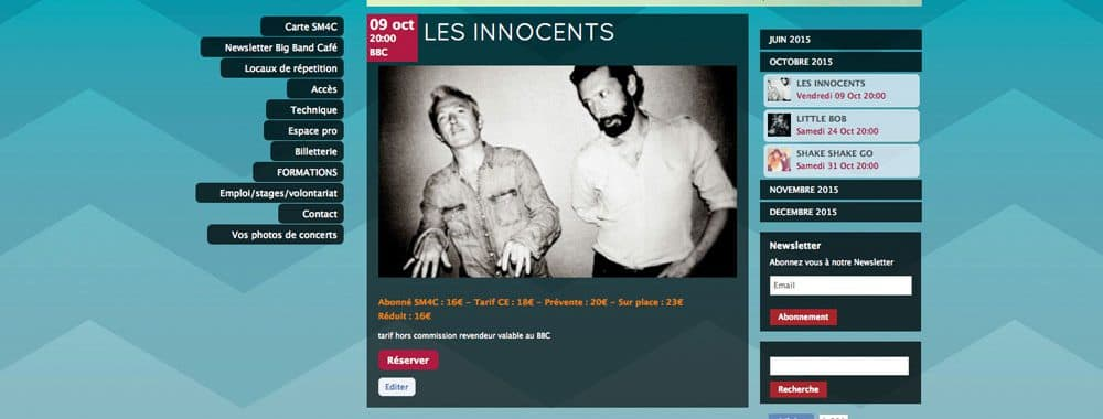 Site internet Big Band Café à Caen 1