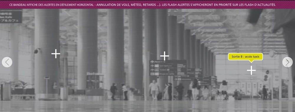 Projet pour le site internet de l'aéroport de Beauvais 1