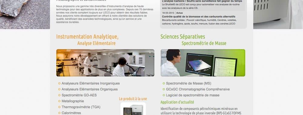 Site web pour Leco Europe 1